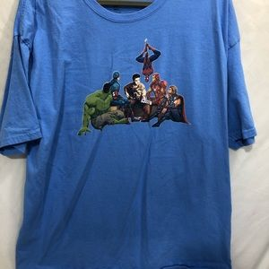 HANES T-SHIRT WITH AVENGERS AND ELVIS SIZE 2XL